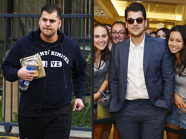Rob Kardashian Shows Off Weight Loss in Las Vegas