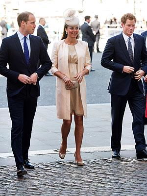 Kate and William Attend Queen's Coronation Anniversary Service