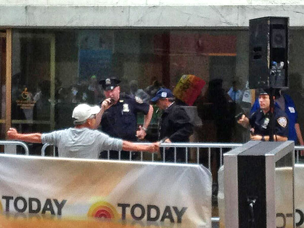 Man Knifes Himself Outside Today Show