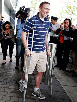 Richard Donohue, Boston Marathon Survivor, Heads Home