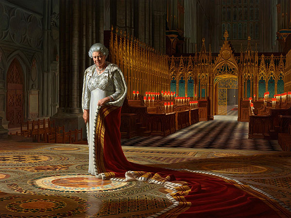Queen Elizabeth's Portrait Defaced, Man Arrested