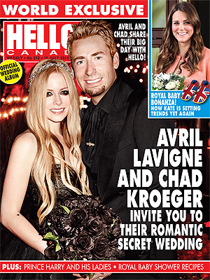 Avril Lavigne, Chad Kroeger Wedding Photo