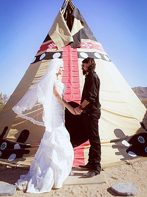 Shooter Jennings & Misty Brooke Swain Marry in the Desert
