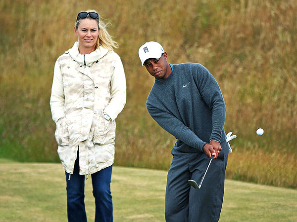 Tiger Woods Brings Lindsey Vonn Along for a Practice Round