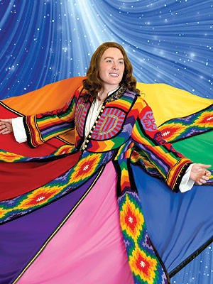 Clay Aiken Sports Long Hair in Vibrant Technicolor Dreamcoat Photo