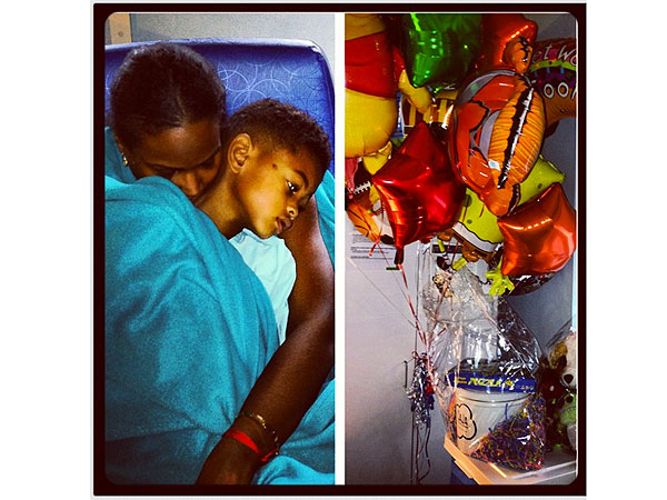Tameka Foster Shares Photo of Hospitalized Son