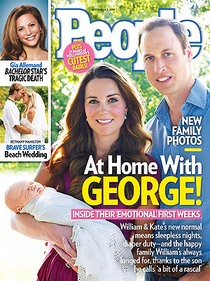 Princess Kate, Prince William: The Royal Baby's First Weeks in PEOPLE Magazine