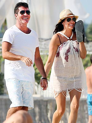 Simon Cowell Holds Hands with Pregnant Lauren Silverman