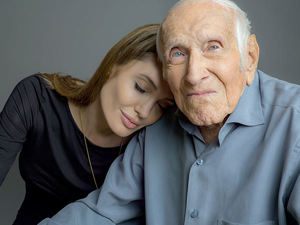 Angelina Jolie with Unbroken Hero Louis Zamperini: PHOTO