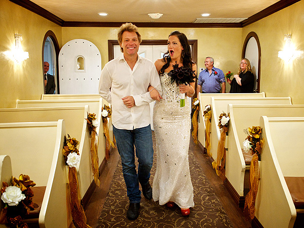 Jon Bon Jovi Walks Super-Fan Down the Aisle
