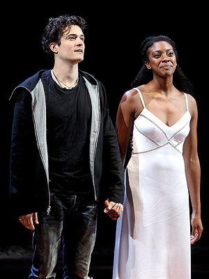 Orlando Bloom Talks Kissing His Juliet, Condola Rashad
