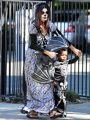 Sandra Bullock and Her Son, Louis, Get Spooky for Halloween