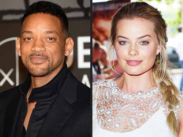 Margot Robbie & Will Smith 'Are Just Being Silly' in Photos, Source Says