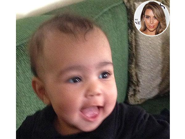 Kim Kardashian Shares Cute Photos of Happy Baby North