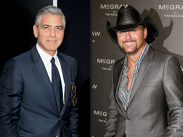 George Clooney and Tim McGraw Hunker Down at a Bar in Orlando