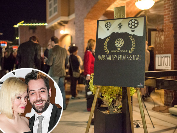 Newlywed Rose McGowan Spotted Kissing Husband at Napa Valley Film Festival