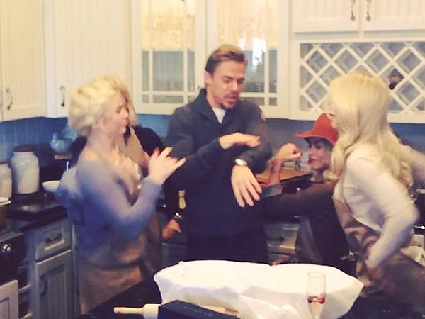 Hough Family, Amber Riley & More DWTS Pros Battle in Epic Thanksgiving Dance Wars