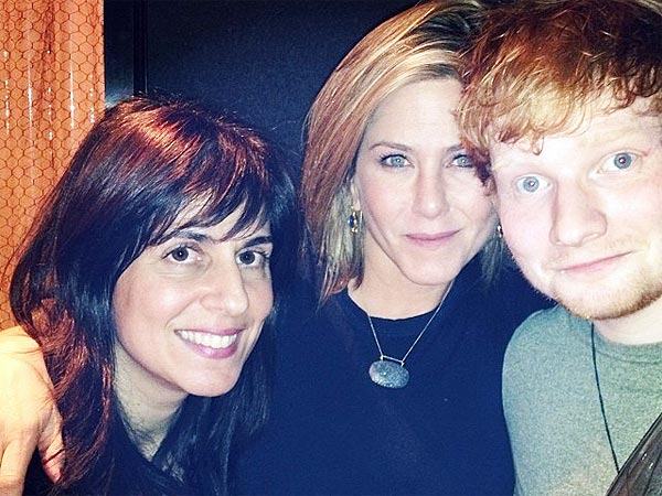 Jennifer Aniston Spends Thanksgiving with Ed Sheeran