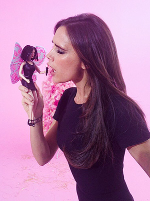 Victoria Beckham Duets with a Cute Mini-Me Doll