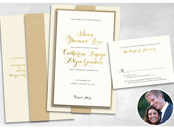 Sean Lowe & Catherine Giudici Send Out Wedding Invitations