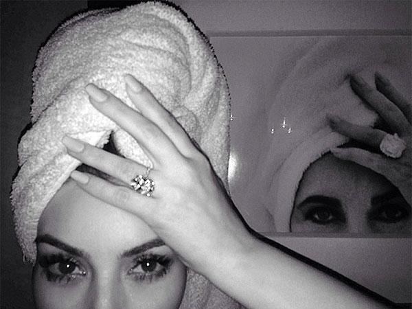 Kim Kardashian Channels Elizabeth Taylor in Instagram Selfie