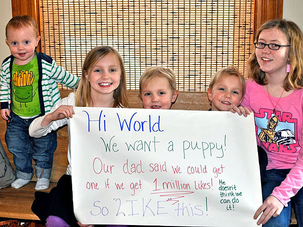 Kids' Puppy Facebook Campaign Goes Viral