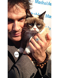 Ian Somerhalder Falls in Love with Grumpy Cat at SXSW | Ian Somerhalder