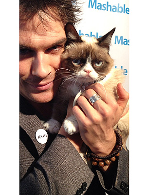 Ian Somerhalder Meets Grumpy Cat at SXSW 2013
