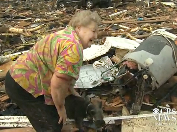 Oklahoma Tornado: Woman Reunites with Missing Dog On-Camera
