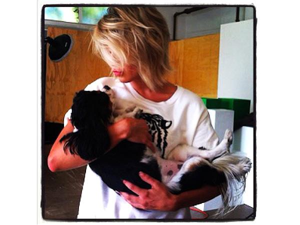 Julianne Hough Instagram Photo of Dog Harley