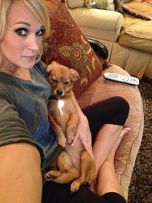 Carrie Underwood Twitter Photo with Dog Penny