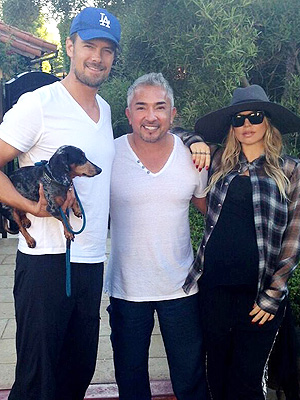 Fergie, Josh Duhamel: Ready for Baby with Dog Whisperer Cesar Millan