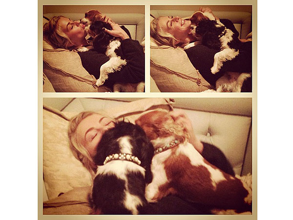 Julianne Hough Instagram Photo of Dogs Harley and Lexi