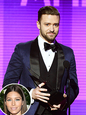 Jessica Biel Tells Internet to 'Calm Down' After Justin Timberlake Wins American Music Awards