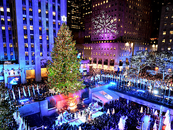 Celebrity Photos from the Rockefeller Center Tree Lighting Ceremony
