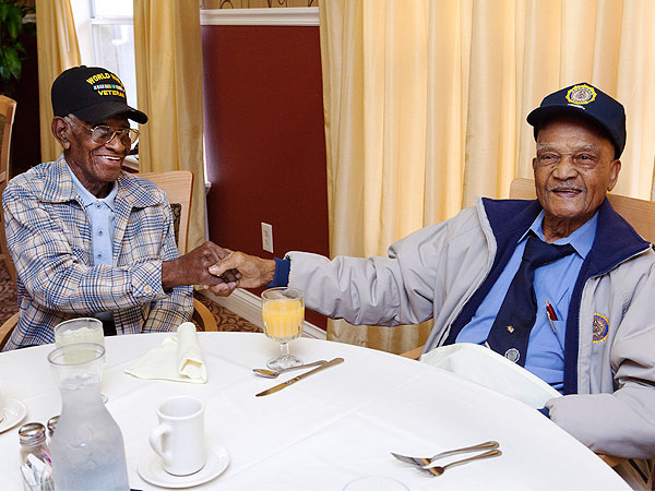 Richard Overton and Elmer Hill: Nation's Two Oldest Veterans Meet for First Time