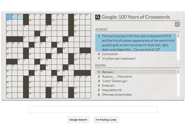 Arthur Wynne: Google Doodle Celebrates 100th Anniversary of the Crossword Puzzle