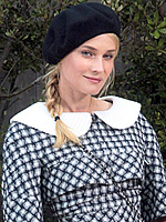 Paris Couture Week: Beret-ving the Elements | Diane Kruger