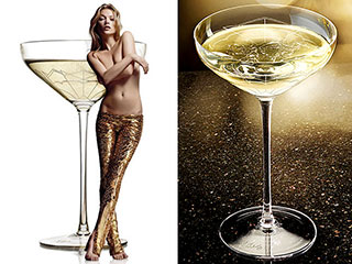Which of Kate Moss's Body Parts Inspired a Champagne Glass?