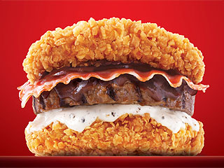 KFC South Korea's New Double Down Sandwich Includes Three Animal Meats
