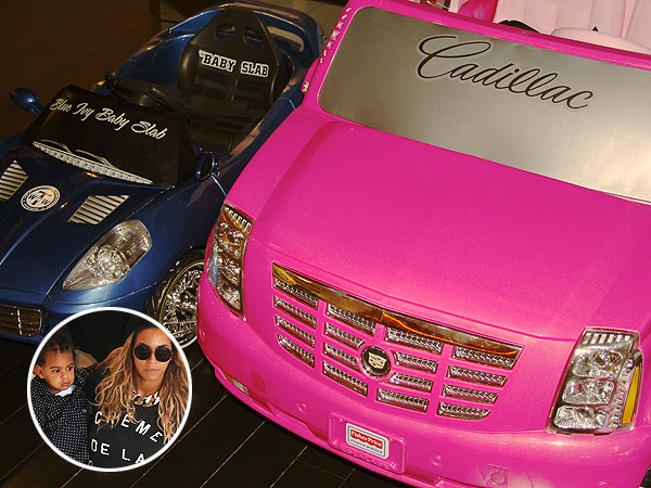 Beyoncé Shows Off Blue Ivy's Swanky Mini-Cars: Check Out Her Wheels!