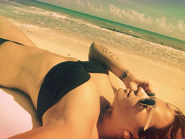Demi Lovato Feels 'Healthy' in Teeny-Weeny Black Bikini