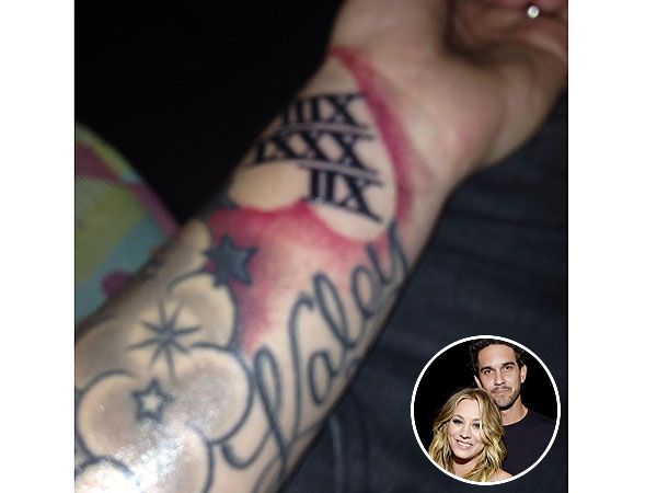Kaley Cuoco's Husband Ryan Sweeting Shows Off New Tattoo of Her Name