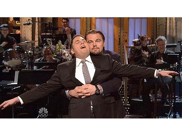 Leonardo DiCaprio and Jonah Hill Reenact Titanic Scene on Saturday Night Live