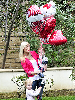 Tori Spelling Spends Valentine's Day with Her Kids