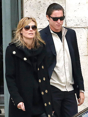 Heidi Klum and Vito Schnabel Step Out in Paris