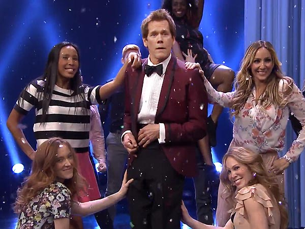 Kevin Bacon Busts Out Footloose Dance on The Tonight Show