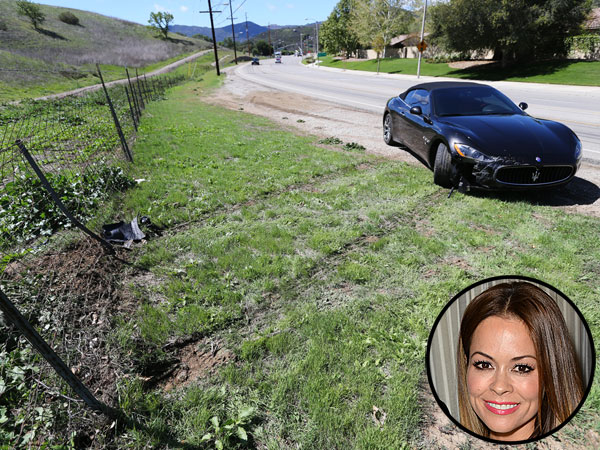Brooke Burke-Charvet Crashes Maserati Near Los Angeles