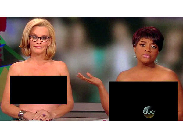 Jenny McCarthy and Sherri Shepherd Go Topless on The View