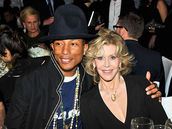 Pharrell Williams and Jane Fonda Buddy Up in Los Angeles